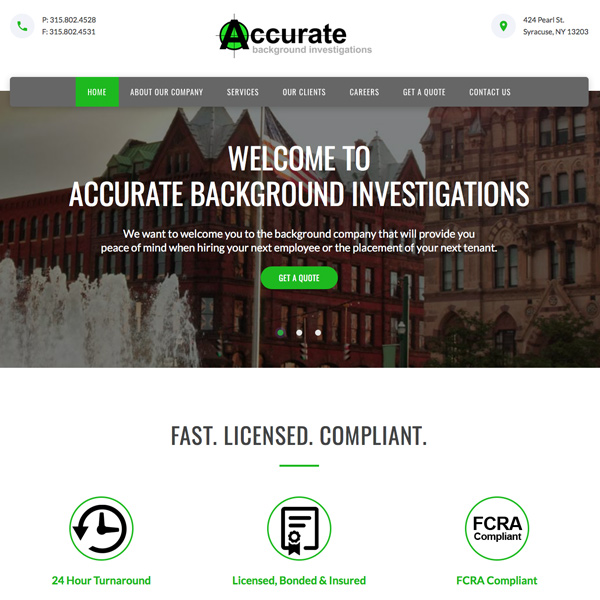 Accurate Background Investigations
