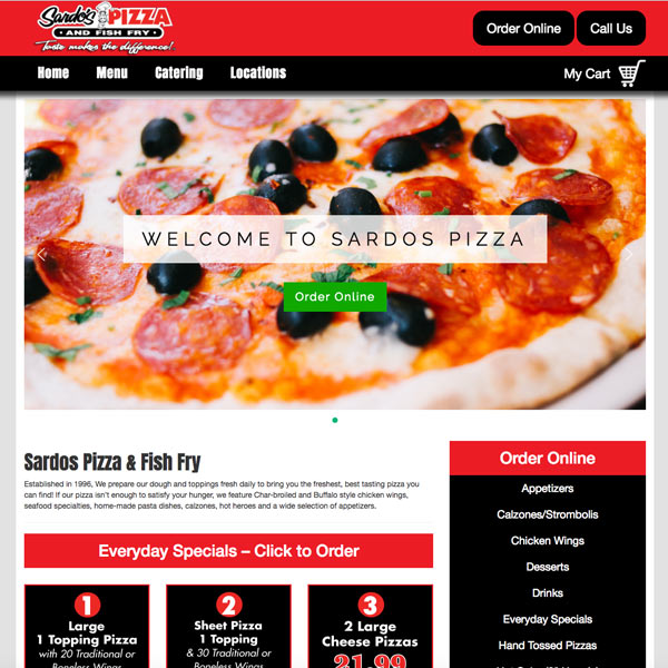 Sardos Pizza & Fish Fry